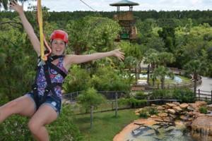 Screamin' Gator Zipline Girl w Helmet