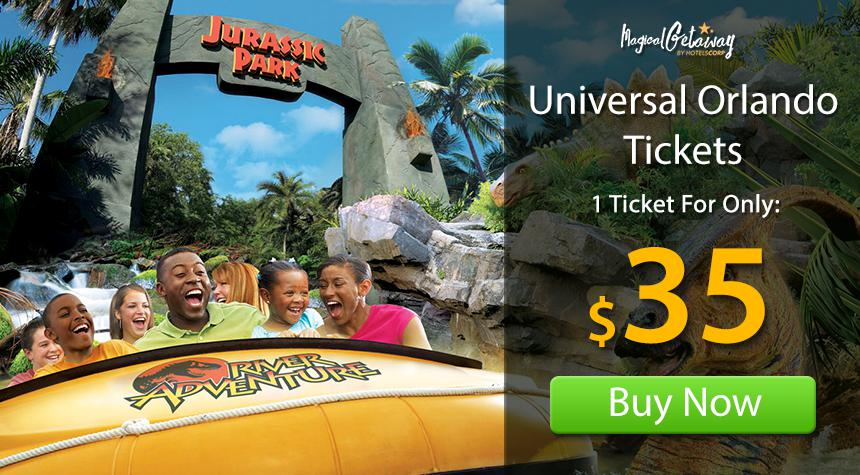 Tickets to Universal Studios ™, Islands of Adventure ™ and Universal's Volcano Bay ™ make for great vacations, so get whisked away into a world of wonder, adventure and excitement at Universal Orlando .