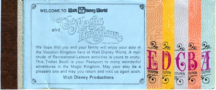 First Disney World Ticket