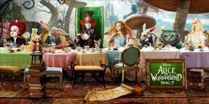 Alice through the Looking Glass at the table