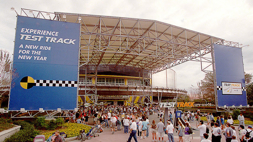 Epcot Test Track Opening - 1999 (Orlando Sentinel)