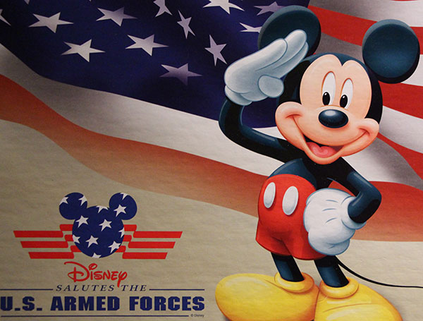 Mickey Salute Armed forces poster