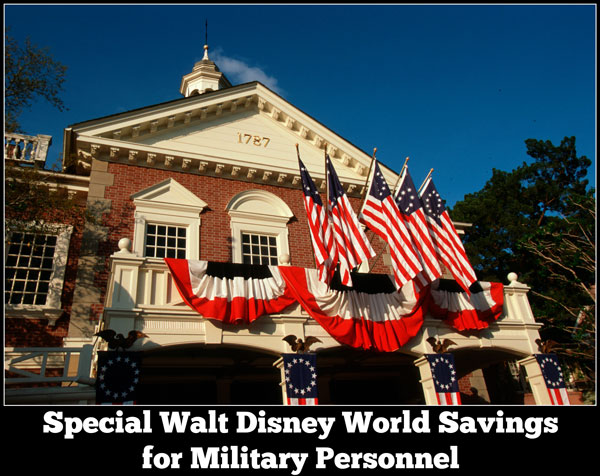 Military Discount Ticket WDW Magic Kingdom Main Street Flag Banners