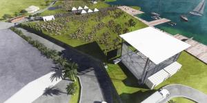 Orlando Amphitheater Central Florida Fairground birdseye view back