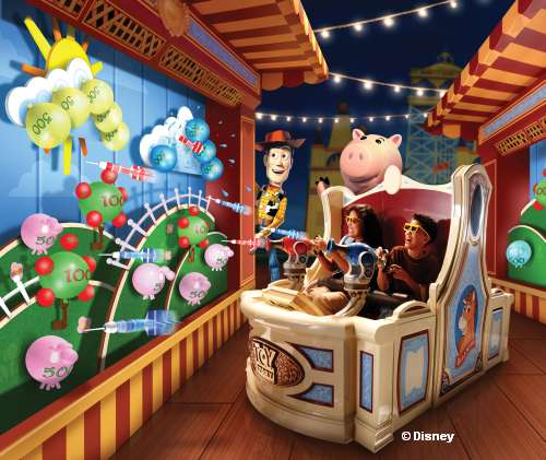 WDW Hollywood Studios Toy Story Land Midway Mania Woody & Target