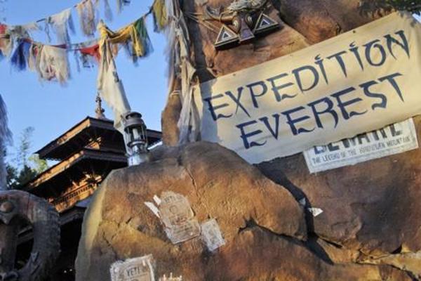 WDW AK Expedition Everest exterior closeup