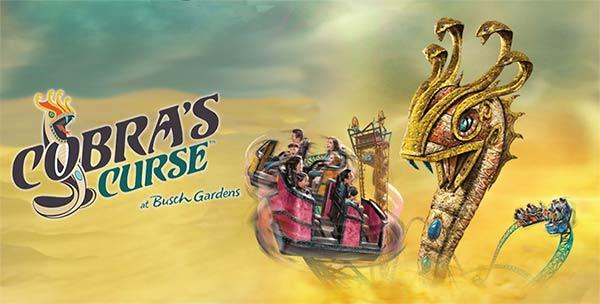 Busch gardens reveals cobra 39 s curse opening date - How far is busch gardens from orlando ...