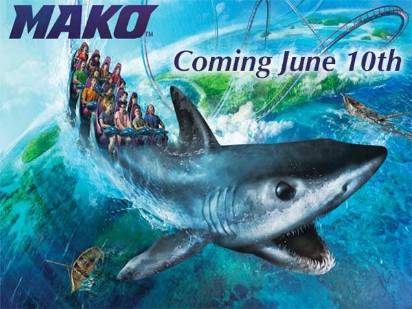SeaWorld Mako coaster coming June 10 poster