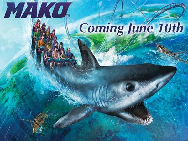 SeaWorld Mako coaster coming June 10 poster