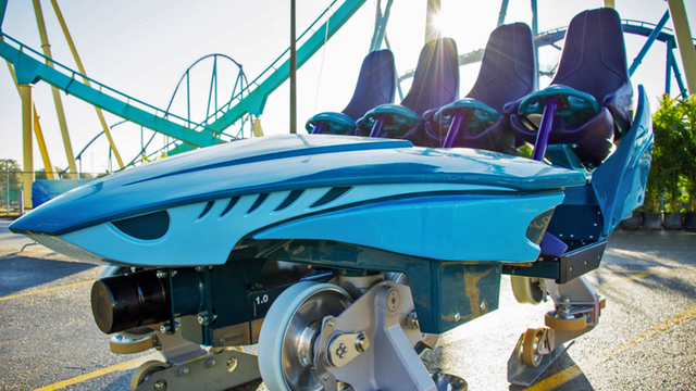 SeaWorld Mako coaster closeup seat