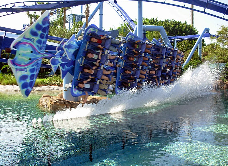 SeaWorld Mako coaster sideways closeup