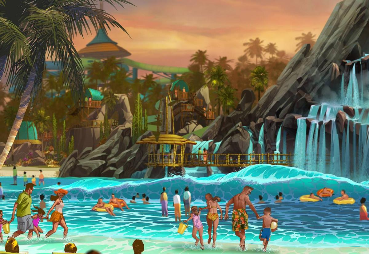 Universal studios volcano bay 39 s opening day drawing nearer for Pool show in orlando 2016