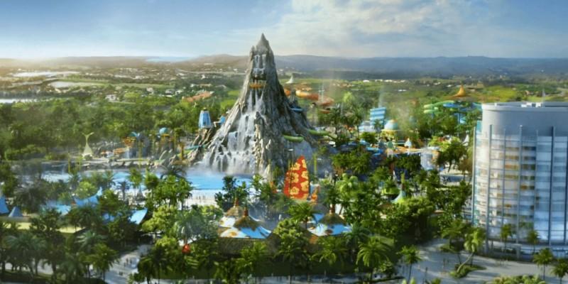 Universal Orlando Volcano Bay Entire Park Aerial View