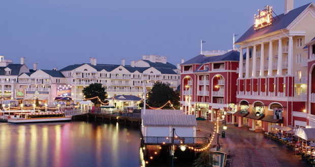 Disney Boardwalk Inn & Villas by night