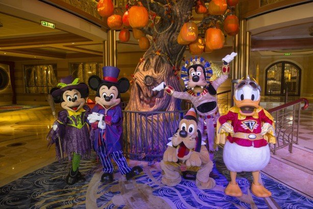 Halloween on the High Seas Disney Cruise Mickey Co in costume