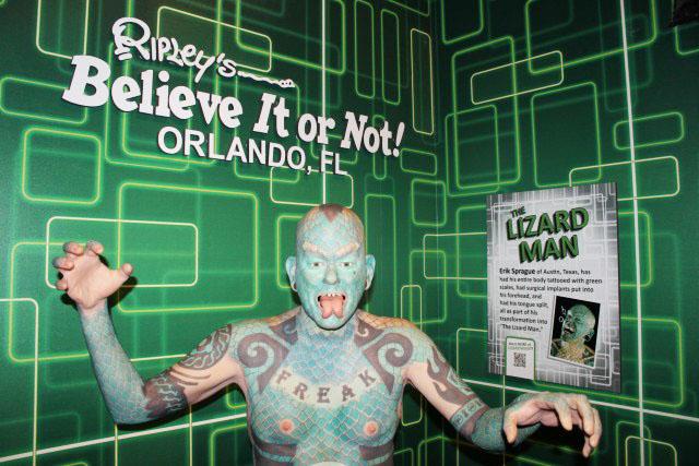 Ripley's Believe It or Not Lizard Man