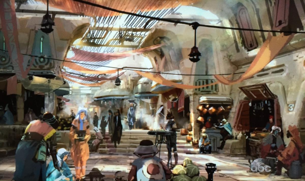 WDW HS Star Wars Land general exterior view
