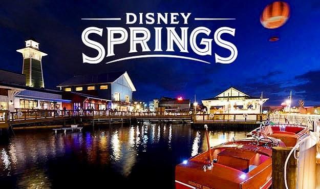 disney springs by night