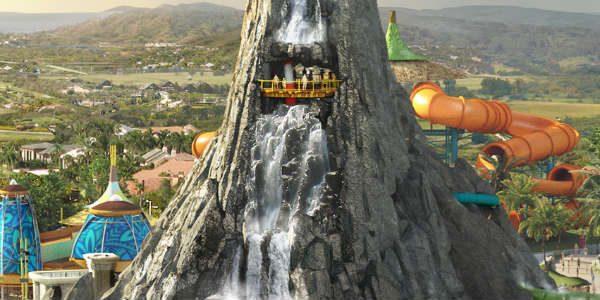 Universal Orlando Krakatoa Volcano Bay new top view