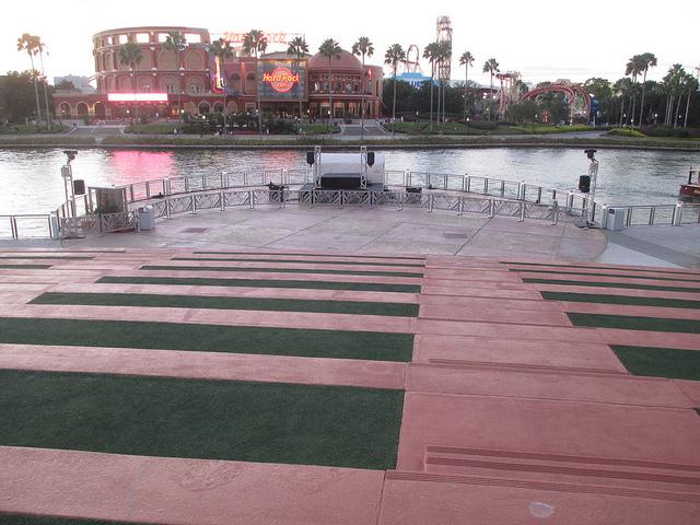 Dancing area Universal CityWalk Orlando