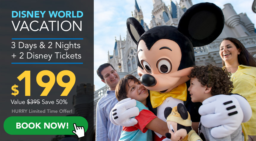 SeaWorld Orlando Jobs earn US$249.00 per day Online Disney-VacPack-199-860x475px