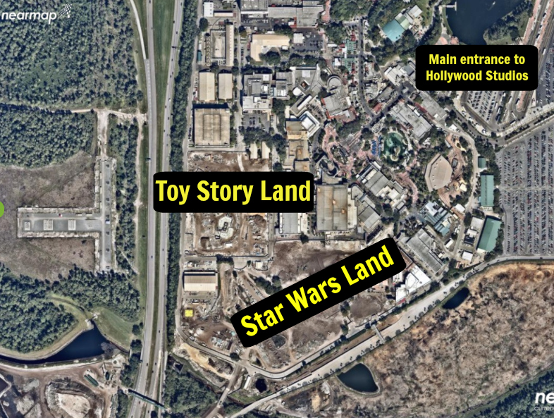 Aerial Views Of Star Wars Land Construction At Disney S