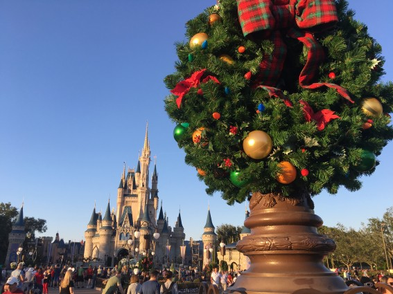 magic kingdom park transforms for the holiday season