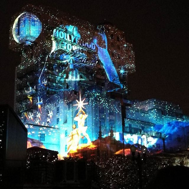 Darth Vader Death Star Projections On Tower Of Terror At