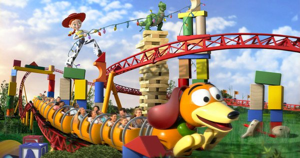 Aerial View Of Slinky Dog Dash At Toy Story Land Orlando Tickets